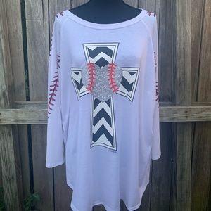 Baseball style 3/4 sleeve length Baseball shirt
